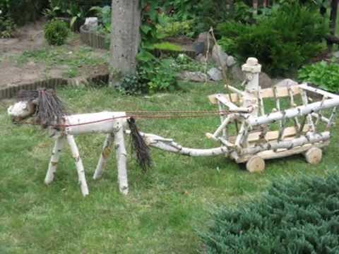 Cuda z drewna do ogrodu