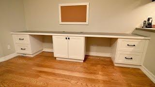 A Desk Built for Two, Custom Built in Desk