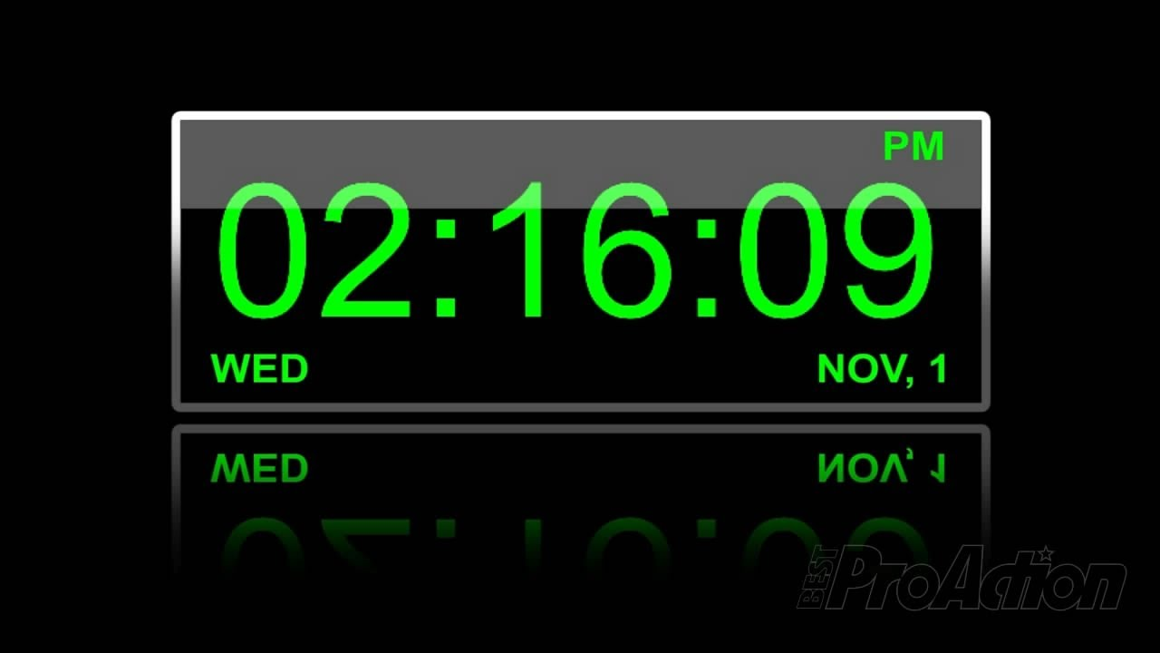 How To Make A Digital Clock Using The Timecode Effect In