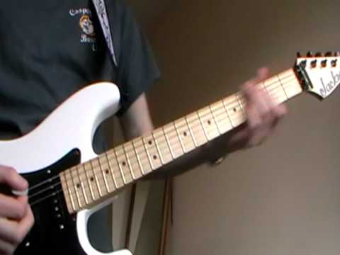 Def Leppard Women cover on Jackson Adrian Smith San Dimas SDX