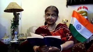 Sanghamitra Malik sings Dhano Dhanne Pushpe Bhara in Hindi