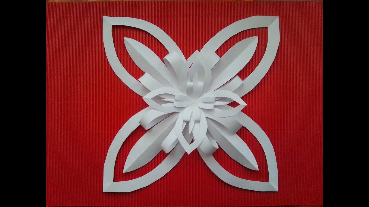 Tutorial decorazione con un foglio di carta facile diy for Stelle di carta tridimensionali