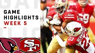 Cardinals vs. 49ers Week 5 Highlights | NFL 2018