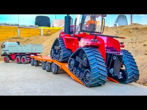 RC Truck heavy transport! Tractor stuck!