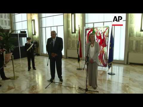 Egypt foreign minister comments on Gaza and Libya during Italy visit