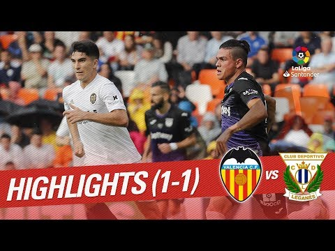 Resumen de Valencia CF vs CD Leganés (1-1)