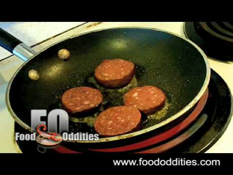 Remy Eats Blood Sausage (Food Oddities - www.foododdities.com) Video