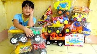 Excavator toy đồ chơi xe máy xúc xe tải xe lu xe chở rác câu cá by giai tri cho be yeu