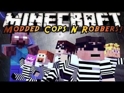 Minecraft Mini-Game : MODDED COPS N ROBBERS! HEROBRINE ATTACK!