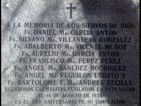 Madrid repone la placa homenaje a ocho beatos carmelitas tras retirarla por error
