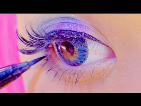 Kawaii big eyes FLASHY COLOR MAKEUP TUTORIAL|紅林大空派手メイク