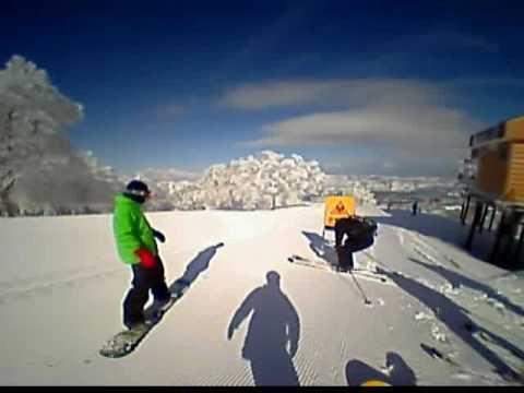 野沢温泉スキー場 やまびこエリア パウダーラン