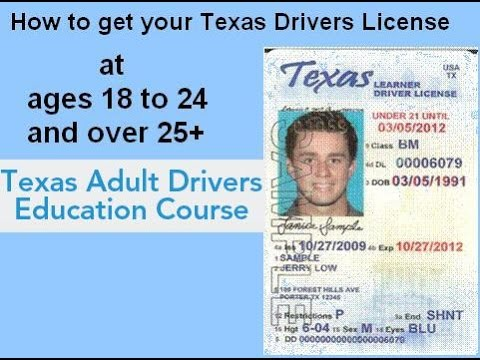 Application For Texas Drivers License
