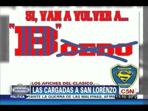 C5N - DEPORTES: LOS AFICHES DE BOCA VS SAN LORENZO