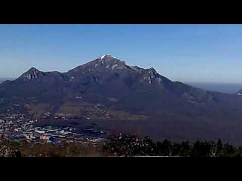 Гора Бештау вид с горы Машук, Пятигорск.