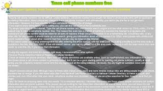How to : Trace cell phone numbers free