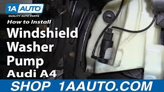 How to Install Replace Windshield Washer Pump 1998-2010 Audi A4