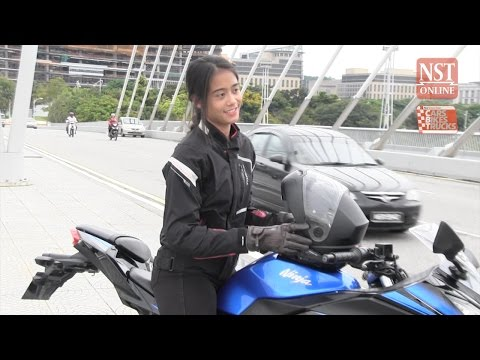 The Ninja 300 can be a girl's best friend