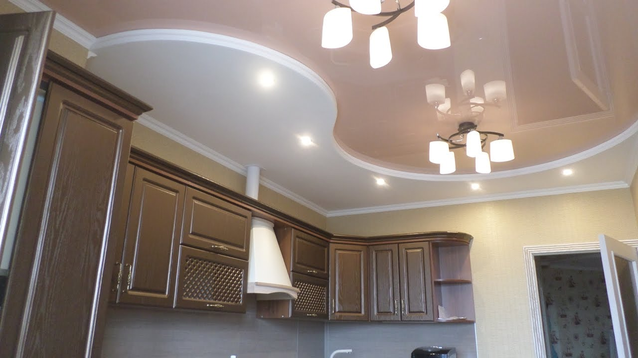 Комбинированный потолок на кухни своими руками