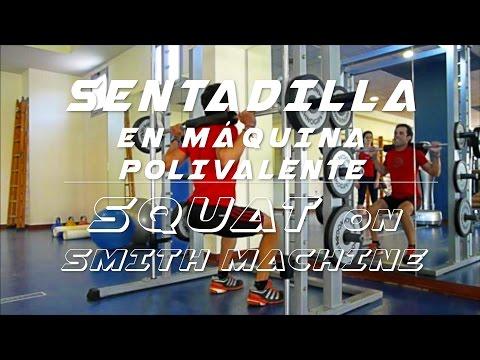 Sentadilla en m 225 quina polivalente squat on smith machine youtube