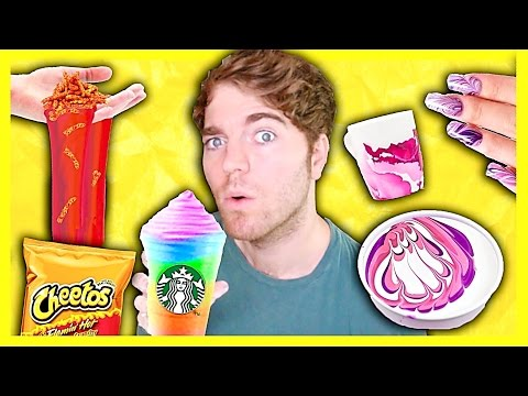 TRYING DUMB DIYS! - HOT CHEETO SLIME, WATERMARBLE, & RAINBOW FRAPPUCCINO