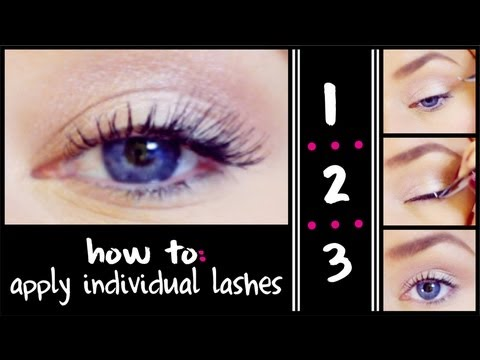 How To Apply Individual False Eyelashes (Quick & Easy)