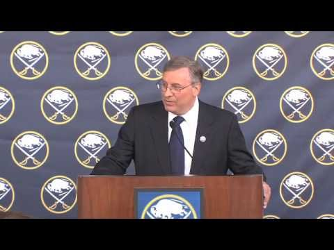 Terry Pegulas First Press Conference as Sabres Owner