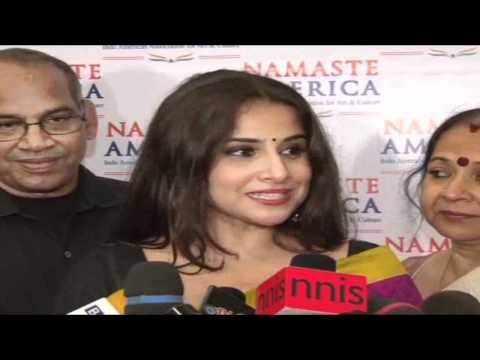 Watch Vidya Balan Felicitated By Namaste America