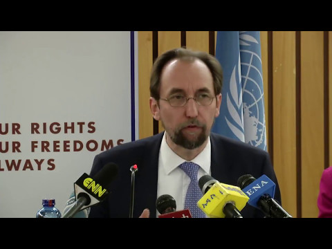 Ethiopia - UN Human Rights Chief Zeid Ra'ad Al Hussein Speaking At The End Of His Visit To Ethiopia