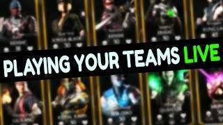 Best Teams in MKX Mobile. Playing Suggested Teams LIVE Stream + Free Souls Giveaway.