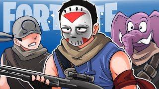 FORTNITE BATTLE ROYALE - Saving Gorilla and Ohm! (Squad Match!)