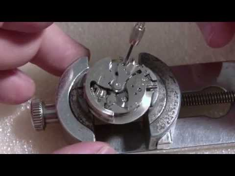 How I take apart a wrist watch. Croton Aquamatic