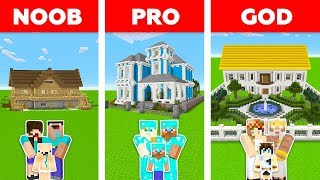 Minecraft Battle: NOOB vs PRO vs GOD: FAMILY MANSION in MINECRAFT / Animation