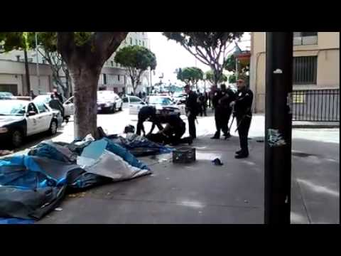 Graphic video shows LAPD shooting a homeless man