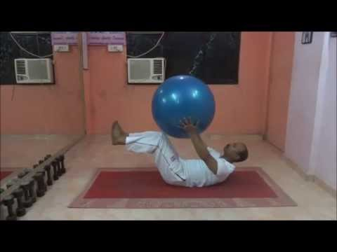 Crunch With Legs Elevated Swissball Crunch Legs Elevated