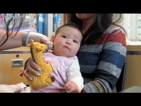 Baby gets her ears pierced!!! - May 15, 2013 - itsJudysLife Vlog