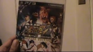 Unboxing (Abriendo) Super Street Fighter IV Arcade Edition PS3