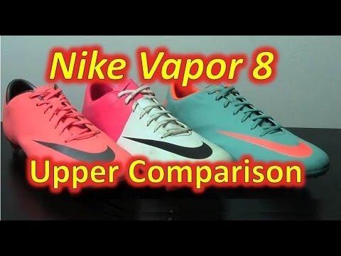 Nike Mercurial Vapor VIII Upper Comparison - Mango vs Clash vs ACC