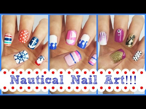 Nautical Nail Art!!! Three Easy Designs | MissJenFABULOUS