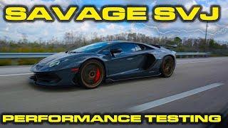 SAVAGE LAUNCHING SVJ * Lamborghini Aventador SVJ Performance Review using Launch Control