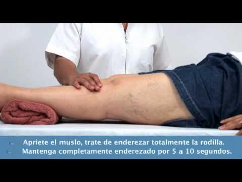 Rehabilitación - Estiramiento de rodilla      www.capellimty.com.mx