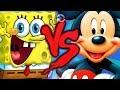 Bob Esponja VS. Mickey Mouse | Duelo de Titãs Part. Tec Plays