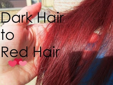 Dark Hair to Red Hair Tutorial