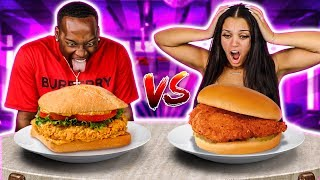 POPEYES VS CHICK-FIL-A FOOD CHALLENGE