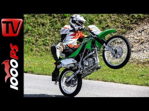 Kawasaki KLX 150 L 2014 - Test. Action. Stunts. Crash