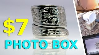 $7 DIY Photo Light Box - Jewelry Photo Diffuser Reflector - Better Ring Pictures
