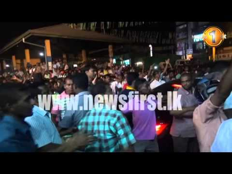 02nd January 2015 - Maithripala Sirisena's rally attacked in Pelmadulla