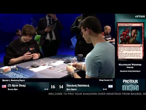 Pro Tour Shadows over Innistrad Round 1 (Draft): Reid Duke vs. Shahar Shenhar