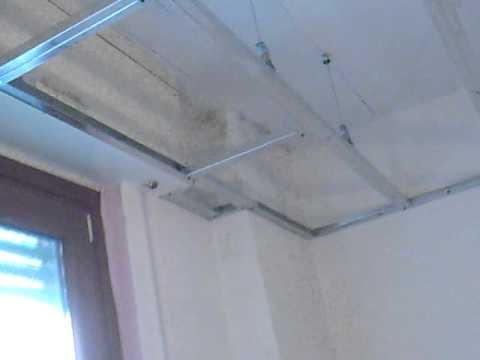 davide pellegrino crea la struttura telaio contro soffitto cartongesso lana di vetro - YouTube