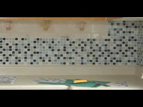 Peel and stick backsplash over existing tile